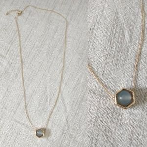 Gold Chain Necklace Dainty with Marble